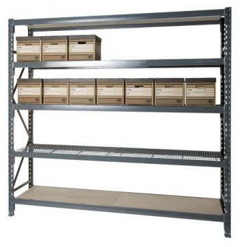 5 Shelf Welded Steel Garage Storage Shelving Unit with Wire Deck in Black