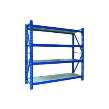 Warehouse shelving supported mezzanine rack system
