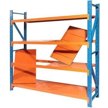 Commercial boltless metal storage shelving unit rack
